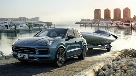 2017 Porsche Cayenne towing