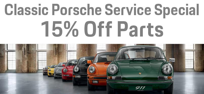 15 percent off Classic Porsche service