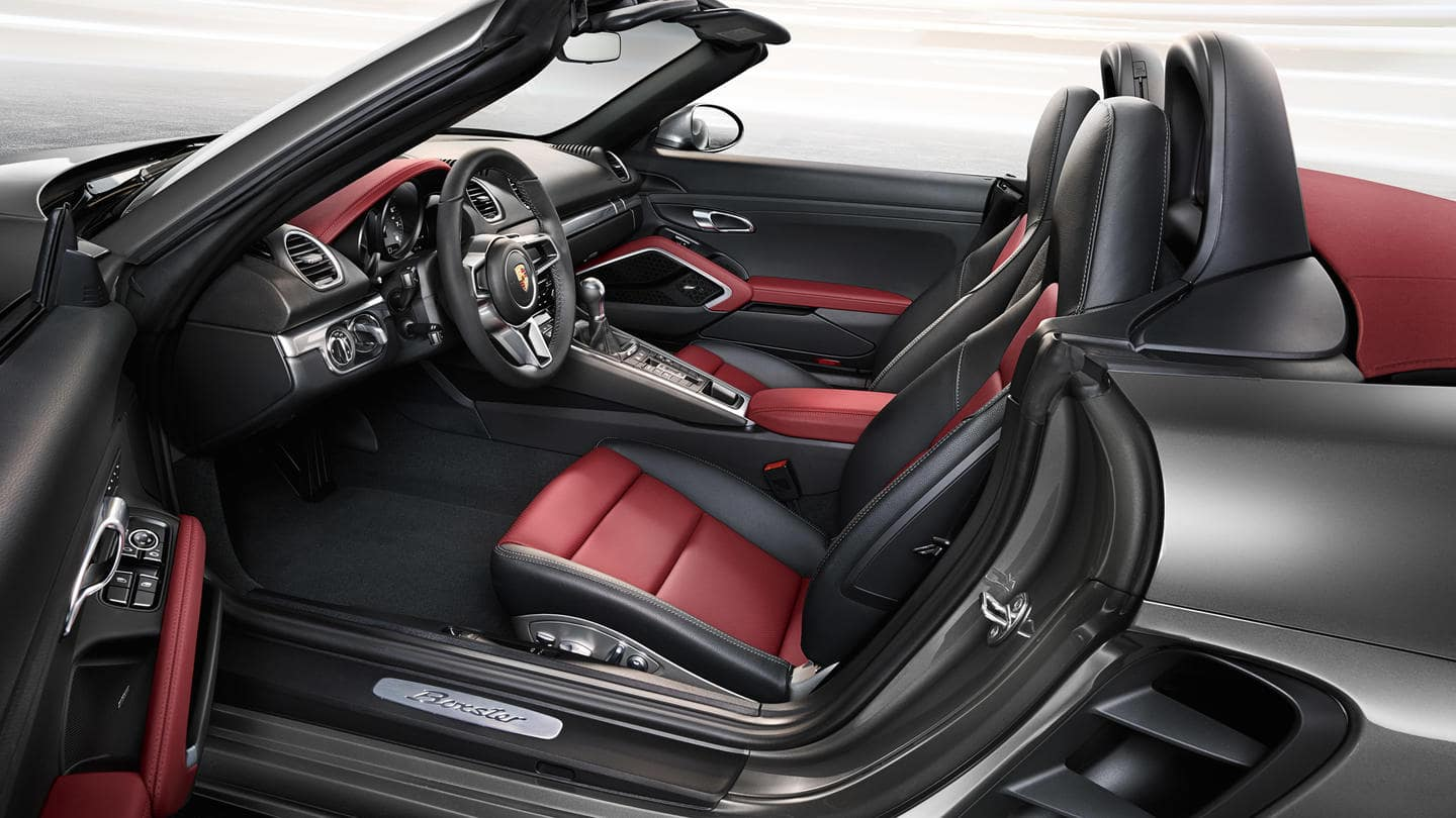Porsche 718 Boxster seating