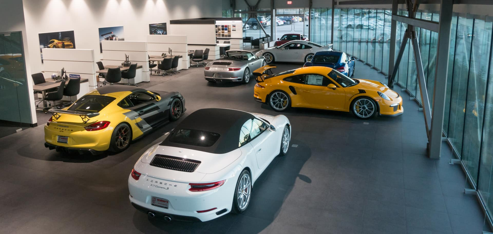 Porsche Riverside showroom