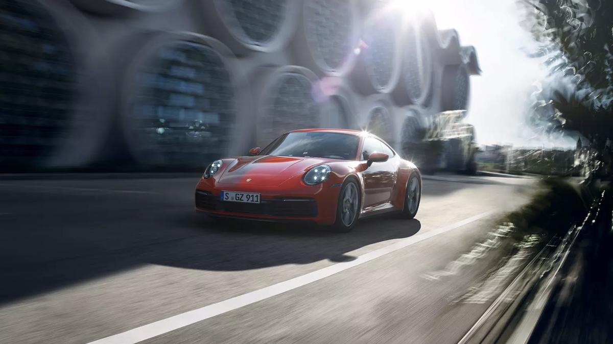 2020 Porsche 911 Carrera driving