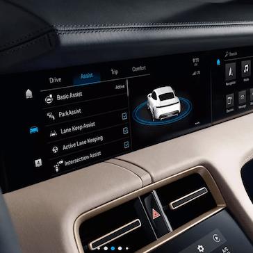 2020 Porsche Taycan Driver's Display