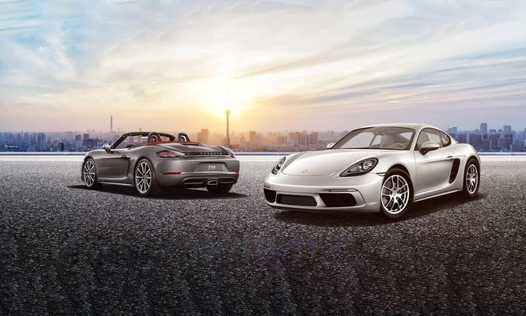 New 2019 Porsche 718 Boxster  and 718 Cayman Models