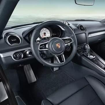 2020 Porsche 718 Cayman Steering Wheel, information cluster, and infotainment screen