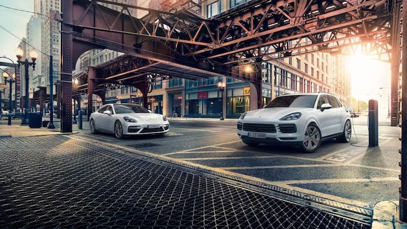 Porsche Panamera E-Hybrid and Porshce Cayenne E-Hybrid Charging on the Road