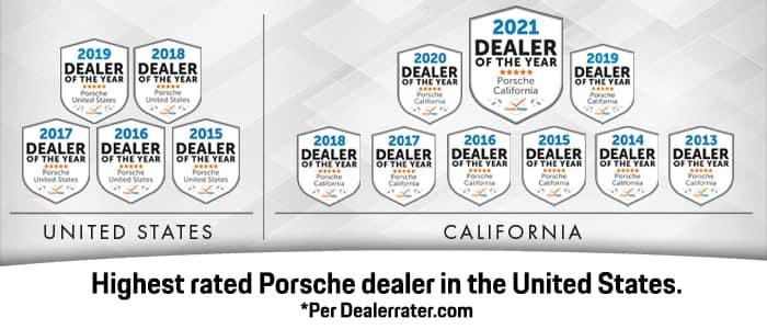 Porsche Riverside #1 Porsche Dealer Awards