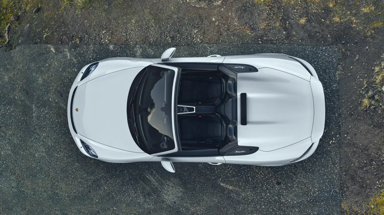 Porsche 718 Spyder Overhead