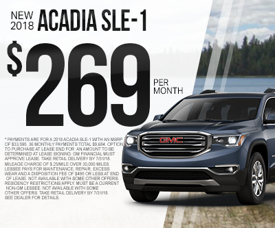 New GMC Acadia Special