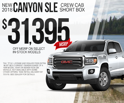New GMC Canyon Special