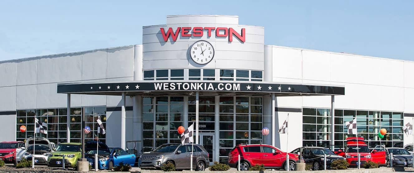 Weston Kia Dealership banner